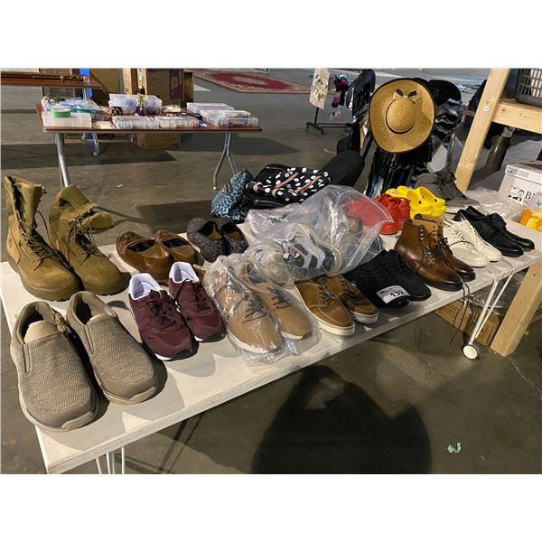 ASSORTED SHOES BRANDS INCLUDING : NEW BALANCE, ALDO, PUMA, & MORE ROLLING TABLE INCLUDED