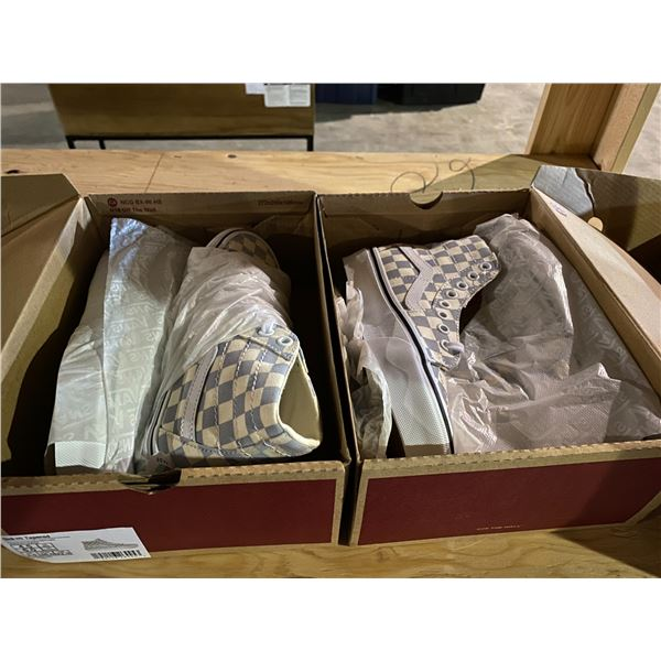 2 NEW IN BOX PAIRS OF VANS SIZES 4.5