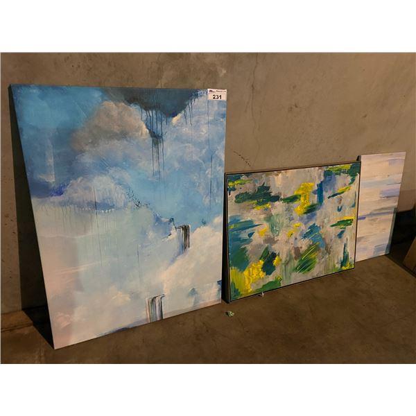 3 ASSORTED ART