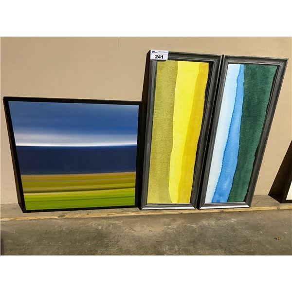 3 FRAMED ART