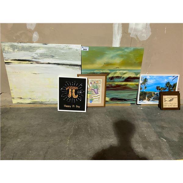 7 ASSORTED ART