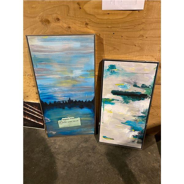 2 FRAMED OIL ON CANVAS ART