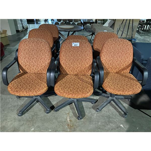 7 ROLLING OFFICE CHAIRS