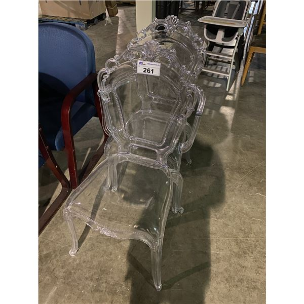 2 CLEAR CHAIRS