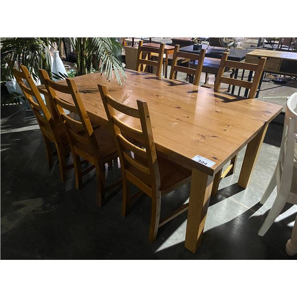 """DINING TABLE WITH 6 CHAIRS 71 X 39"""""""