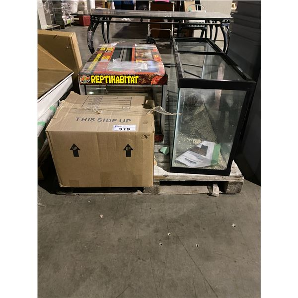 ASSORTED REPTILE HABITATS & RELATED ITEMS