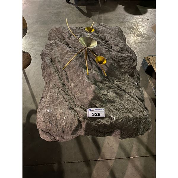 FAUX ROCK SIDE TABLE