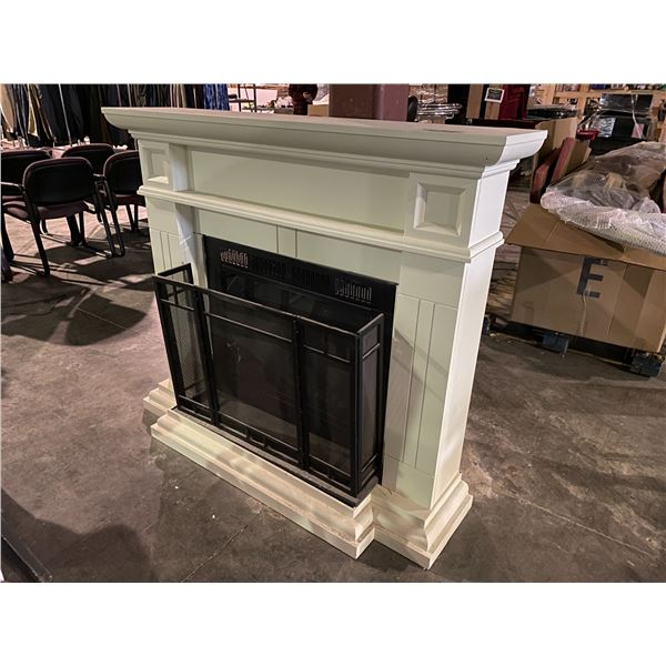"""FIRE PLACE WITH GUARD & MANTEL 57 X 49"""""""
