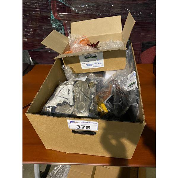 BOX OF ASSORTED SET DEC PROP ITEMS
