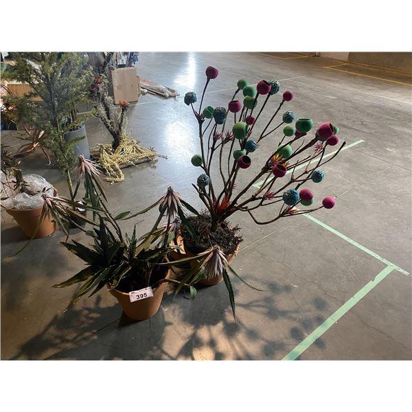 2 FAUX PLANTS