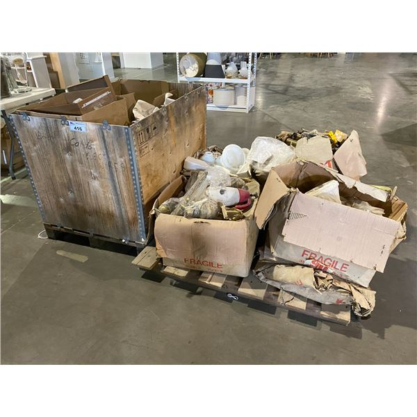 PALLET & CRATE OF ASSORTED LIGHTING PRODUCTS