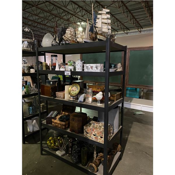 """5 TIER SHELVING UNIT WITH CONTENTS 25 X 49 X 72"""""""