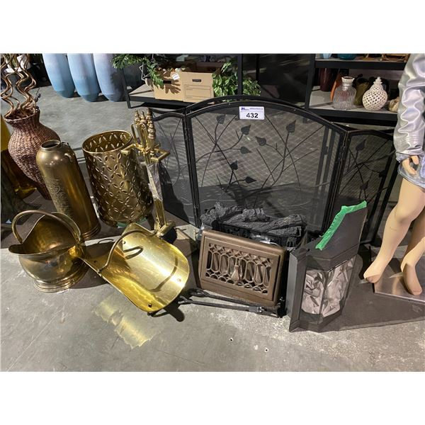 ASSORTED FIREPLACE RELATED ITEMS