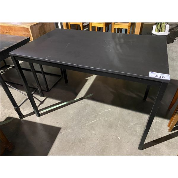 "BLACK TABLE 26.5 X 43"""