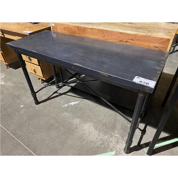 "BLACK TABLE 18 X 48"""