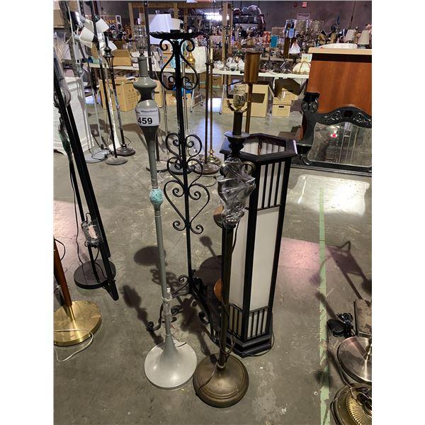 5 FLOOR LAMPS