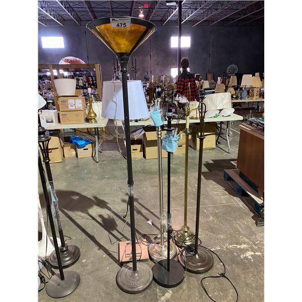 6 FLOOR LAMPS