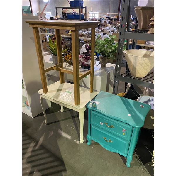 2 TABLES & NIGHT STAND