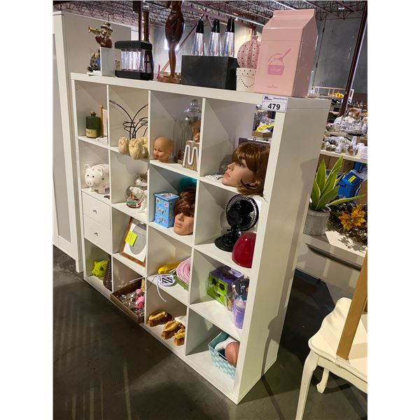 """CUBBY STORAGE WITH CONTENTS 58 X 15.5 X 58"""""""