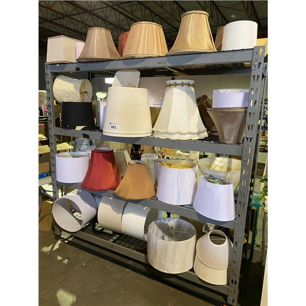 ASSORTED LAMP SHADES (ROLLING RACK NOT INCLUDED)