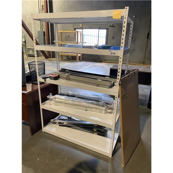 RACK WITH CONTENTS