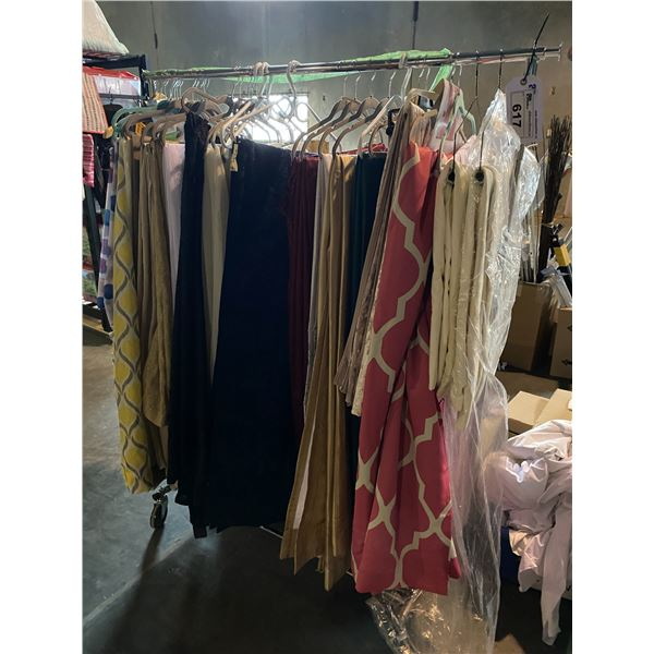 ASSORTED CURTAINS & SHEETS/TEXTILES