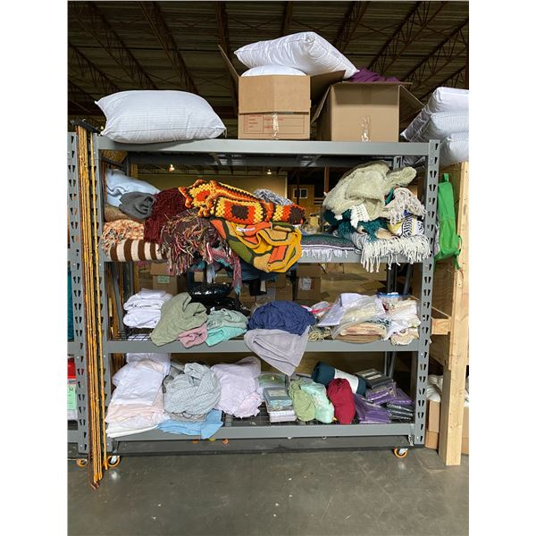 ASSORTED BLANKETS & MISC. ITEMS