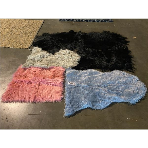 4 SMALL AREA RUGS