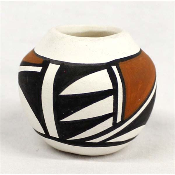 Isleta Miniature Pottery Bowl by Y. Olguin