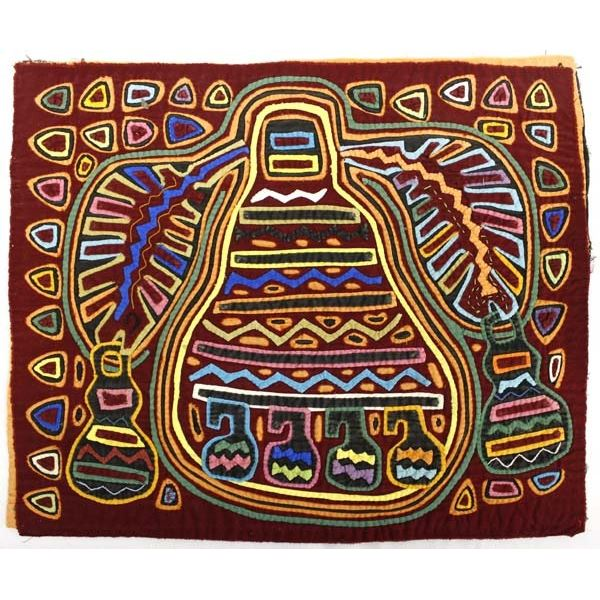 South American Kuna Indian Mola Tapestry