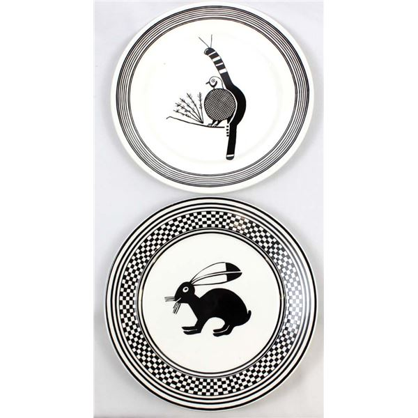 2 Anasazi Traders Decorative Plates