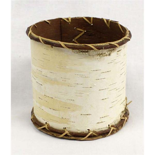 Vintage Alaskan Birch Bark Cylindrical Basket