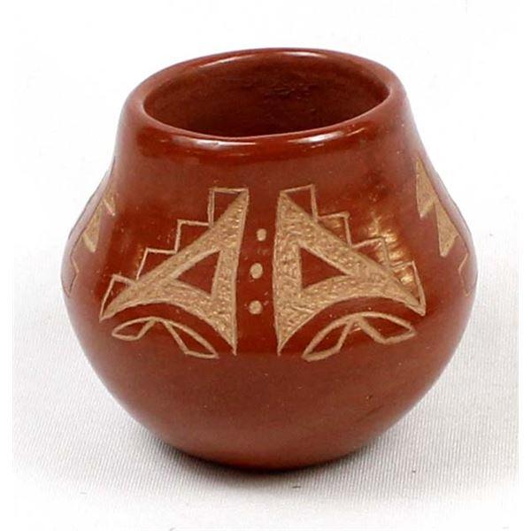 Pojoaque Carved Pottery Jar by Mary Gutierrez
