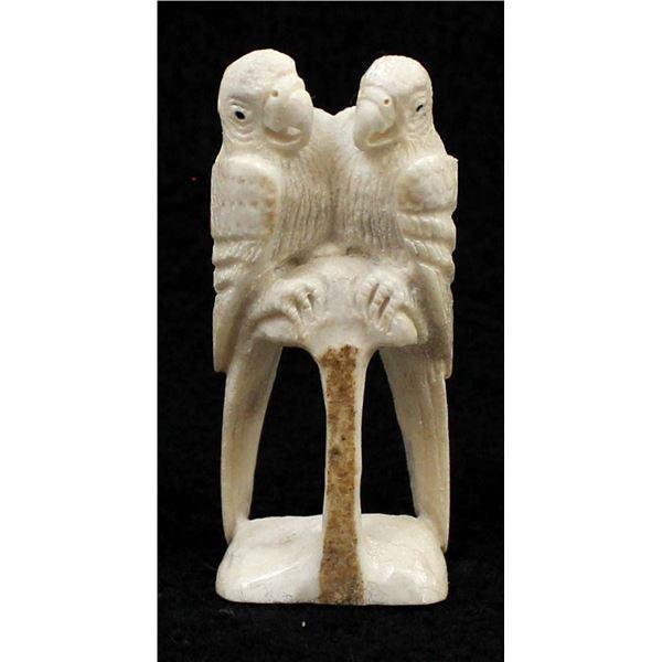 Zuni Carved Antler Parrots by Esteban Najera
