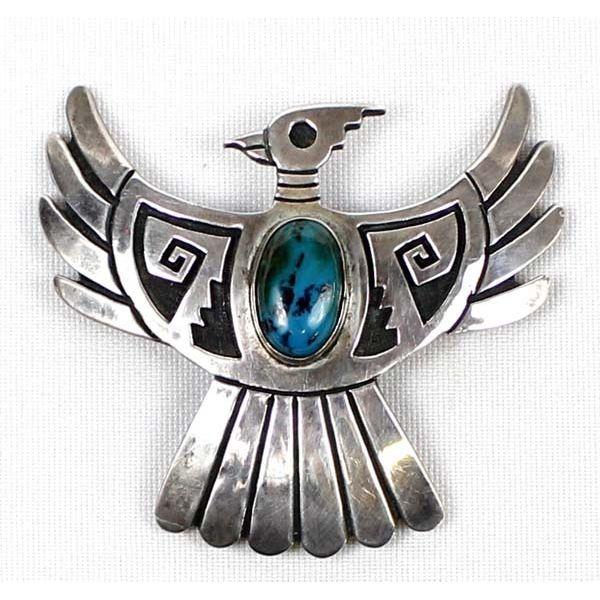 Vintage Hopi Sterling Thunderbird Bolo Slide