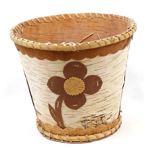 Historic Mille Lacs Reservation Birch Bark Basket