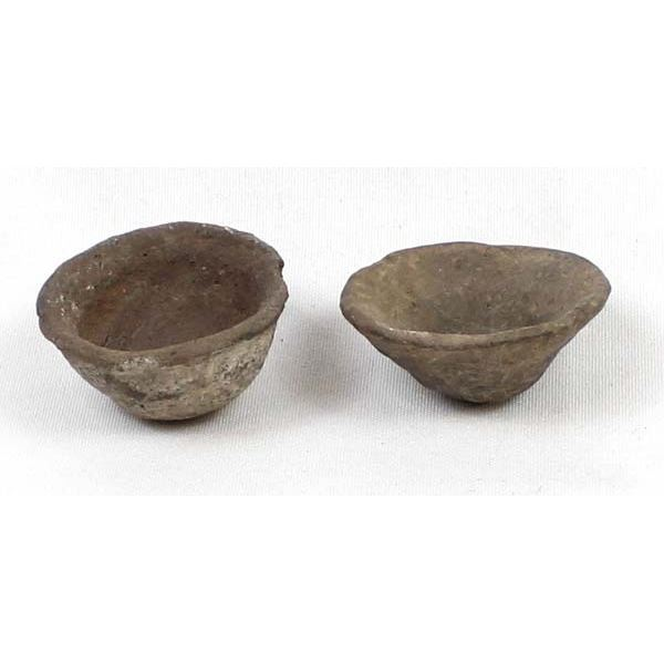 2 Prehistoric Miniature Pottery Bowls