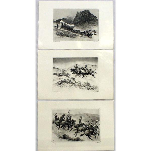 3 Lamenated R. H. Palenske Prints
