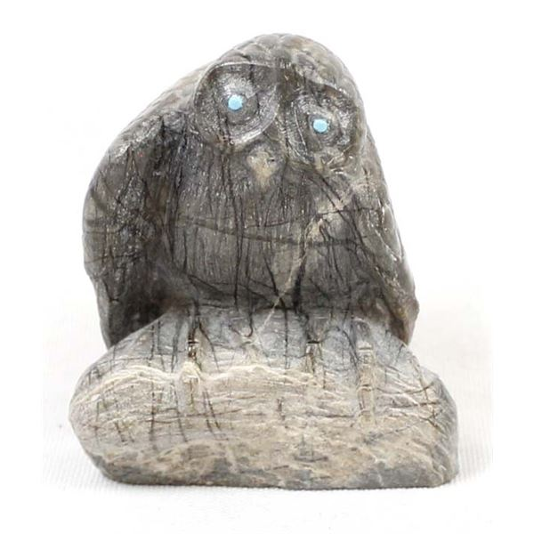 Zuni Picasso Marble Owl Fetish by Kaamasee
