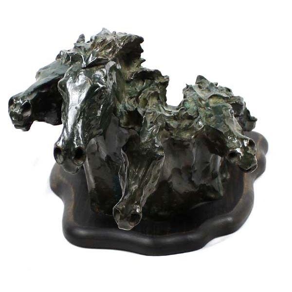 1976 Bronze Horses by Debbie Gessner