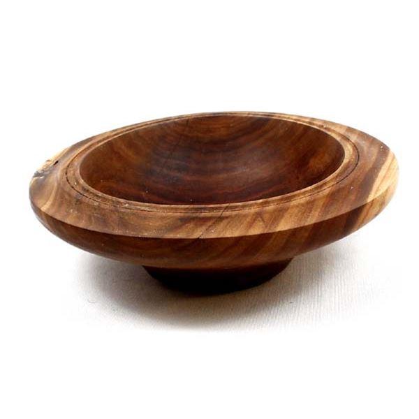 Hand Turned Redbud Wood Bowl by Bark Barker