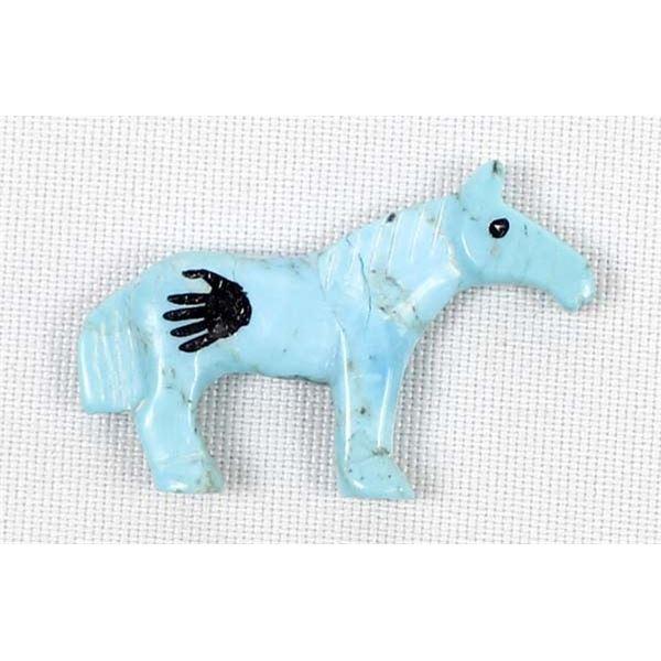 Zuni Turquoise Horse Fetish by Carol Martinez