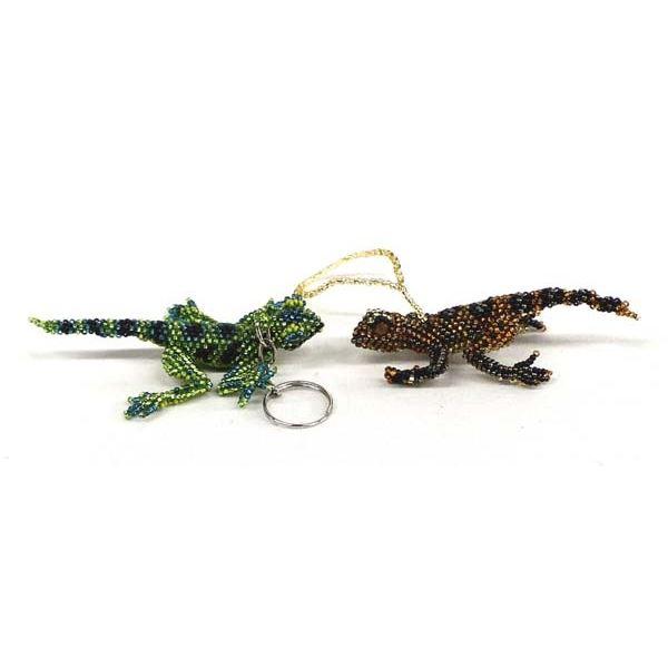 Hand Beaded Lizards