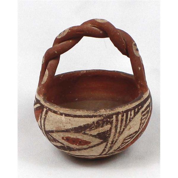 Early Native American Cochiti Pottery Basket