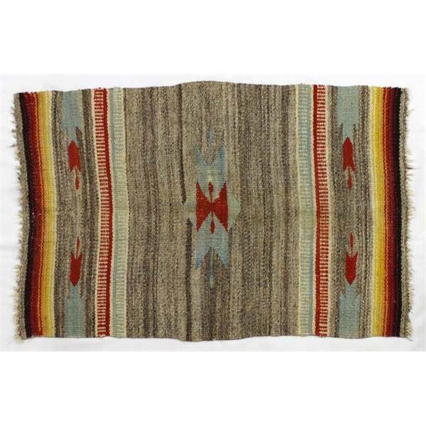 Vintage Navajo Wool Textile Rug