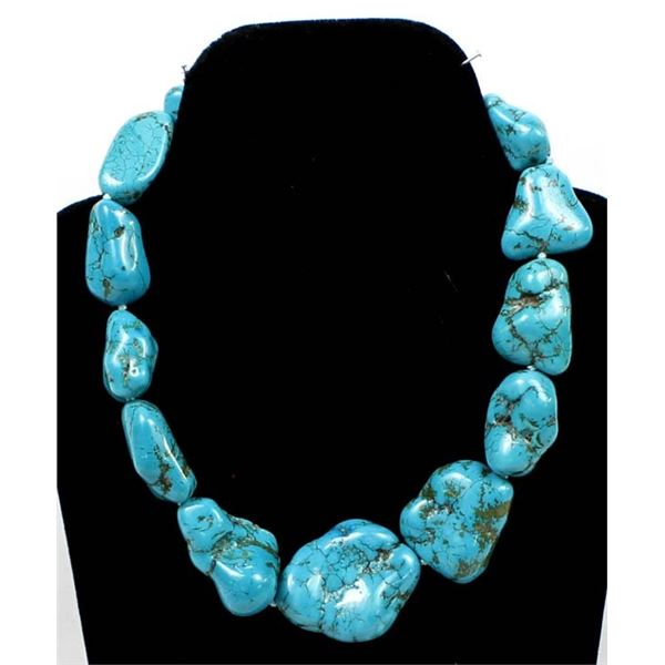 Large Turquoise Nugget Necklace