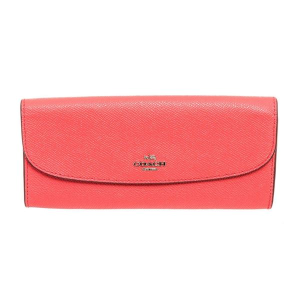 Coach Pink Crossgrain Leather Soft Wallet