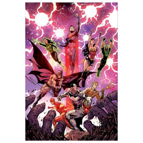 "DC Comics, ""Justice League #3"" Numbered Limited Edition Giclee on Canvas by Tony"