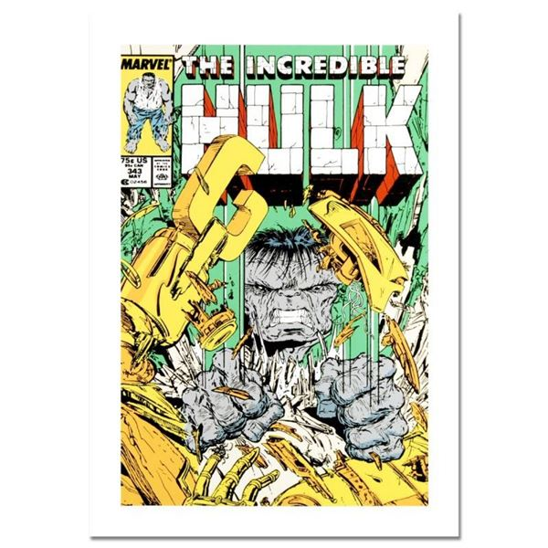 "Marvel Comics, ""The Incredible Hulk #343"" Numbered Limited Edition Canvas by Tod"