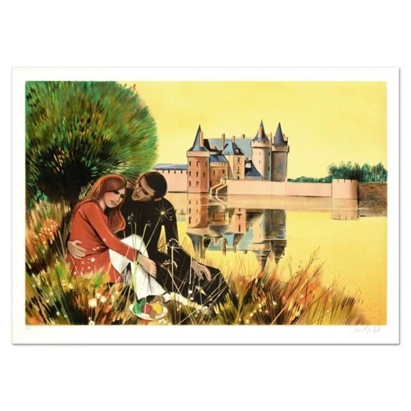 "Robert Vernet Bonfort, ""The Couple"" Limited Edition Lithograph, Numbered and Han"